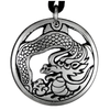 Chinese Eastern Dragon Pewter Pendant Necklace