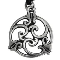 Small Celtic Knot Triscele 1 Pewter Pendant Necklace