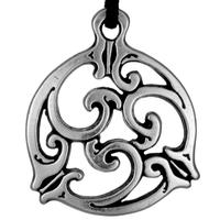 Celtic Knot Triscele 1 Pewter Pendant Necklace