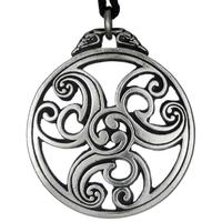 Celtic Knot Triscele 2 Pewter Pendant Necklace