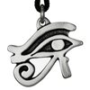 Egyptian Eye of Horus Wadjet Pewter Pendant Necklace