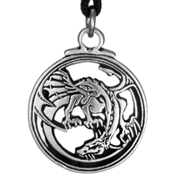 Pewter Smaug Dragon Necklace