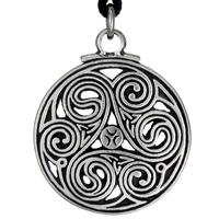 Celtic Knot Triscele 3 Pewter Pendant Necklace