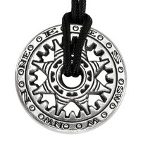 The Compass of Fortune Pewter Pendant Necklace