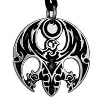 Horus the Avenger Egyptian Pewter Pendant Necklace