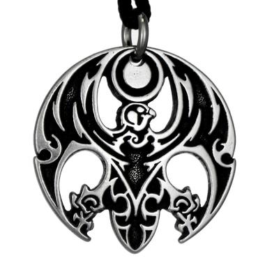 Horus the Avenger Egyptian Pewter Pendant Necklace