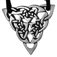 Celtic Knot Triquetra Goddess Pewter Pendant Necklace