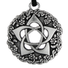 Pewter Pentacle of the Goddess Necklace