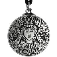 Brigid Celtic Goddess Pewter Pendant Necklace