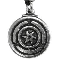 Wheel of Hecate Pewter Pendant Necklace