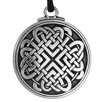Celtic Knot Woven Heart Pewter Pendant Necklace