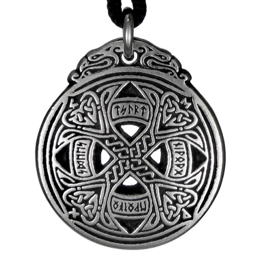 Small Celtic Knot Love Rune Pewter Pendant Necklace