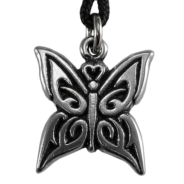 Pewter Celtic Knot Butterfly Necklace