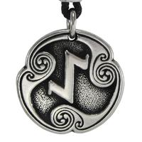 Eihwaz Eihaz Rune of Defense Talisman Pewter Pendant Necklace