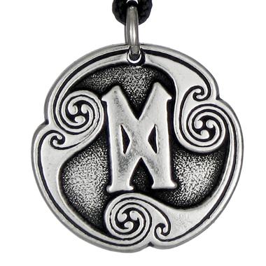 Dagaz Rune of New Beginnings Talisman Pewter Pendant Necklace