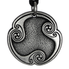 Pewter Isa Rune of Duration Necklace