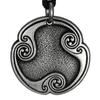 Hagall Haglaz Hagalaz Rune of Transformation Talisman Pewter Pendant Necklace