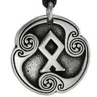 Othalaz Odal Rune of Heritage Talisman Pewter Pendant Necklace