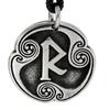 Raidho Raido Rune of Psychic Communication Talisman Pewter Pendant Necklace
