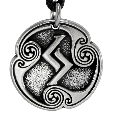 Jera Jeran Jeraz Rune of Harvest Talisman Pewter Pendant Necklace