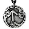 Laguz Laukaz Rune of Intuition Talisman Pewter Pendant Necklace