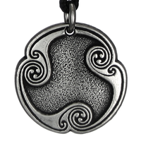 Wyrd Rune of Fate Talisman Pewter Pendant Necklace