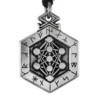 Armanen Runes Odin Talisman Pewter Pendant Necklace