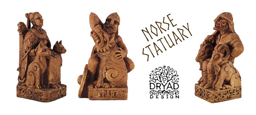 Dryad Design Norse God Statuary