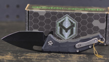 "Heretic Martyr Manual Liner Lock Knife Black Aluminum 3"" Black"