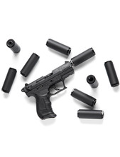 Bowers Group Pocket Suppressor Bitty .22, 22LR suppressor, 22LR silencer, pocket suppressor, 22LR can, smallest silencer, pistol silencers