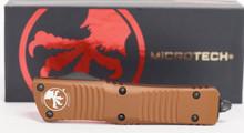 Microtech Combat Troodon D/E TAN Partial Serrated