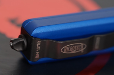 Microtech UTX-70 T/E Blue Partial Serrated