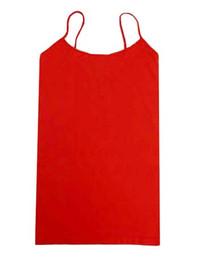 Long Spaghetti Strap Cami Red