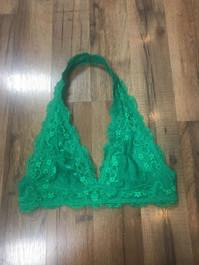 Green Halter Bralette