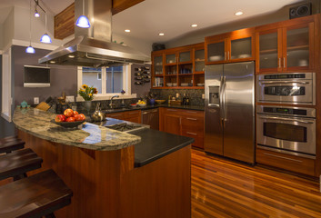 exotic woods for kitchen designs
