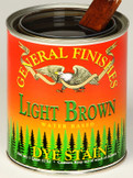 Water Based Dye Stain - Light Brown