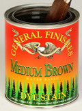 Water Based Dye Stain - Medium Brown