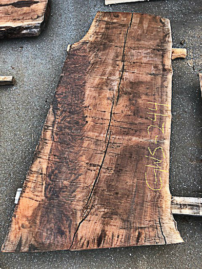 "Claro Walnut Slab GWS-244 4""x29""-37""x80"" - wood slab"