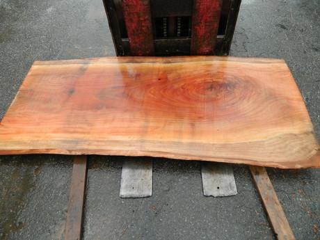 """Red Eucalyptus Slab GWS-801 3¼""""x36""""-38""""x83"""" - wood slab"""
