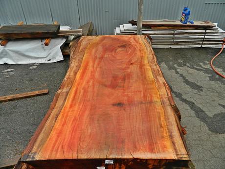 """Red Eucalyptus Slab GWS-802 3¼""""x36""""-38""""x83"""" - wood slab"""