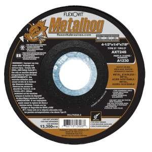 "METALHOG by Flexovit A1230 4-1/2""x1/4""x7/8"" AXT24S  -  RAPID GRIND Depressed Center Grinding Wheel"