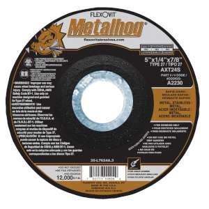 "METALHOG by Flexovit A2230 5""x1/4""x7/8"" AXT24S  -  RAPID GRIND Depressed Center Grinding Wheel"
