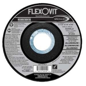 "SPECIALIST by Flexovit A1203 4-1/2""x1/4""x7/8"" A24ALU  -  LOAD RESISTANT Depressed Center Grinding Wheel"