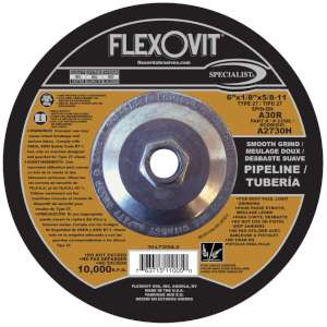 """SPECIALIST by Flexovit A2730H 6""""x1/8""""x5/8-11 A30R  -  SMOOTH GRIND Depressed Center Combination Wheel"""