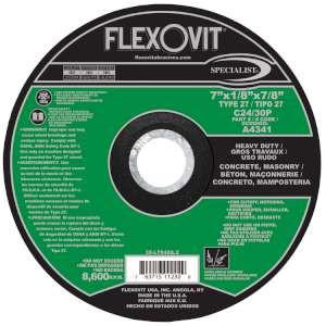 "SPECIALIST by Flexovit A4341 7""x1/8""x7/8"" C24/30P  -  HEAVY DUTY Depressed Center Combination Wheel"