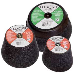 "HIGH PERFORMANCE by Flexovit N4255S 4""x2""x5/8-11 C16PB W/ STEELBACK Resin Cupstone"