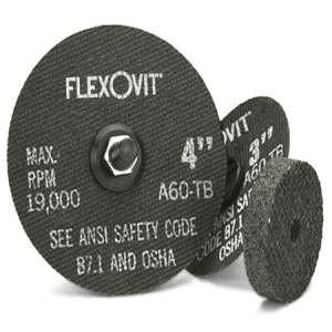 "HIGH PERFORMANCE by Flexovit F0379 3""x1/2""x3/8"" A36Q  -  FAST GRIND Reinforced Die Grinder Grinding Wheel"