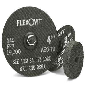 "HIGH PERFORMANCE by Flexovit F0459 4""x1/4""x3/8"" A36Q  -  FAST GRIND Reinforced Die Grinder Grinding Wheel"