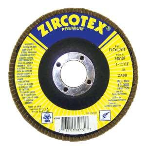 "ZIRCOTEX by Flexovit Z4510F 4-1/2""x7/8"" ZA80 FIBERGLASS BACKING PLATE  -  HIGH PRODUCTION Flap Disc 10/BX"