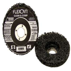 """HIGH PERFORMANCE by Flexovit HS450 4-1/2""""x7/8"""" Extra Coarse Black Clean and Strip Disc"""